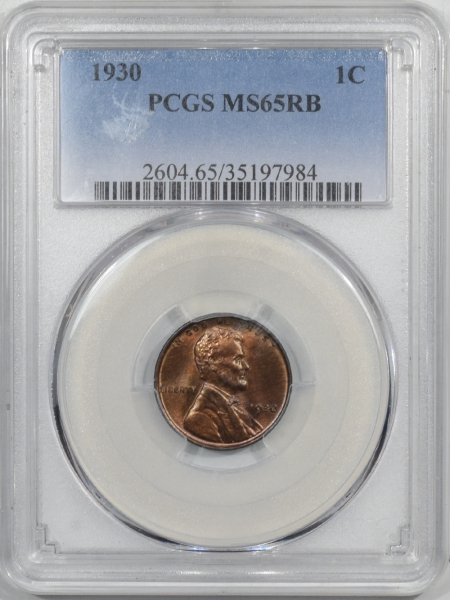 Lincoln Cents (Wheat) 1930 LINCOLN CENT – PCGS MS-65 RB