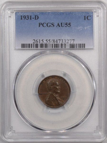 New Certified Coins 1931-D LINCOLN CENT – PCGS AU-55