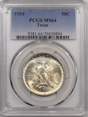 New Certified Coins 1934 TEXAS COMMEMORATIVE HALF DOLLAR – PCGS MS-64