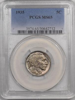 Buffalo Nickels 1935 BUFFALO NICKEL – PCGS MS-65