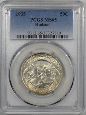 New Certified Coins 1935 HUDSON COMMEMORATIVE HALF DOLLAR PCGS MS-65 FRESH, PRETTY GEM