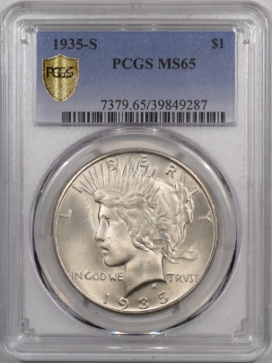 New Certified Coins 1935-S PEACE DOLLAR – PCGS MS-65, PQ!