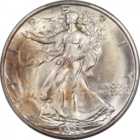 New Certified Coins 1935-S WALKING LIBERTY HALF DOLLAR – PCGS MS-64 PRETTY, PQ & CAC APPROVED!