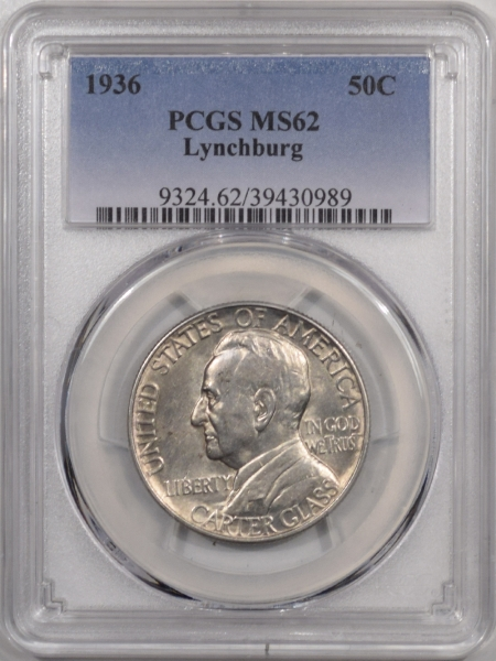 New Certified Coins 1936 LYNCHBURG COMMEMORATIVE HALF DOLLAR – PCGS MS-62