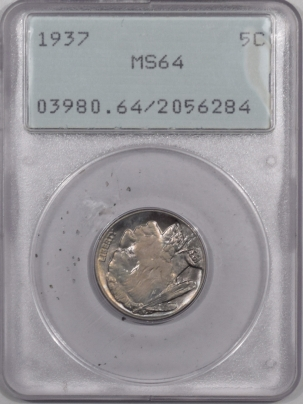 New Certified Coins 1937 BUFFALO NICKEL – PCGS MS-64