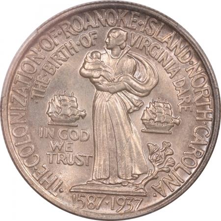 New Certified Coins 1937 ROANOKE COMMEMORATIVE HALF DOLLAR – PCGS MS-64