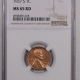 Lincoln Cents (Wheat) 1937-S LINCOLN CENT – NGC MS-65 RD