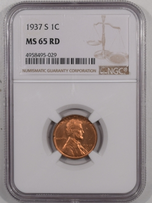 New Certified Coins 1937-S LINCOLN CENT – NGC MS-65 RD