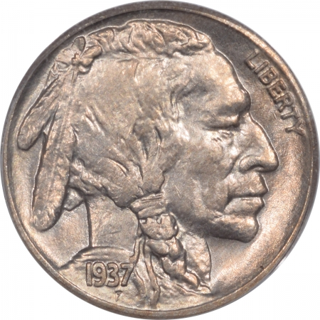 New Certified Coins 1937-S BUFFALO NICKEL – PCGS MS-65