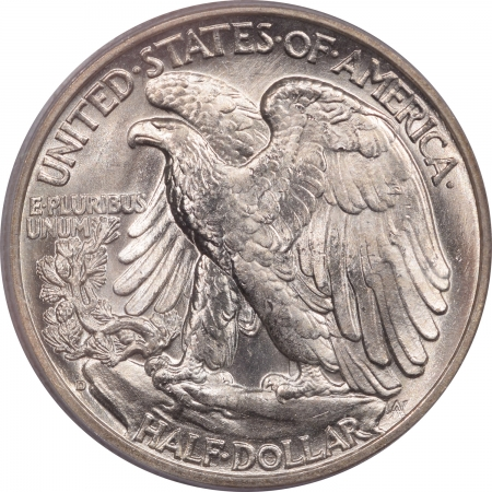 Coin World/Numismatic News Featured Coins 1938-D WALKING LIBERTY HALF DOLLAR – PCGS MS-64 FLASHY PREMIUM QUALITY CAC!