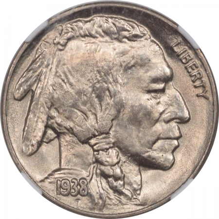 New Certified Coins 1938-D BUFFALO NICKEL – NGC MS-66