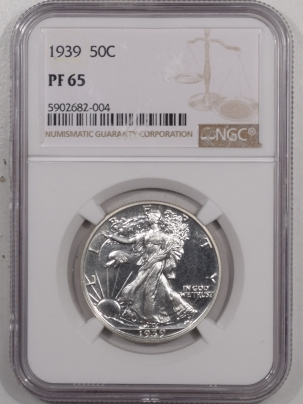 New Certified Coins 1939 PROOF WALKING LIBERTY HALF DOLLAR – NGC PF-65