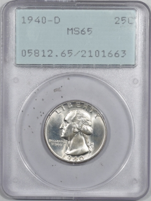 Coin World/Numismatic News Featured Coins 1940-D WASHINGTON QUARTER – PCGS MS-65, RATTLER & PREMIUM QUALITY++!