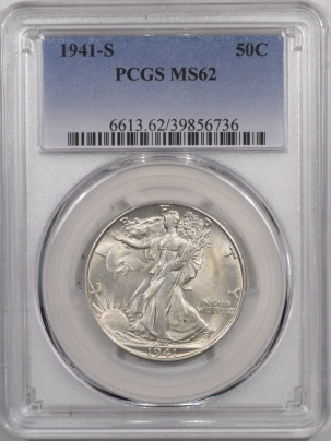 Walking Liberty Halves 1941-S WALKING LIBERTY HALF DOLLAR – PCGS MS-62