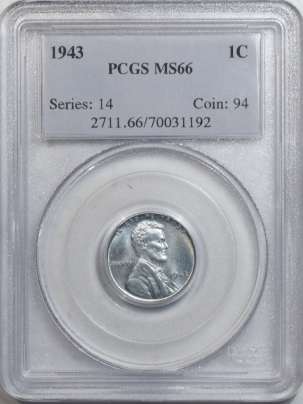 Lincoln Cents (Wheat) 1943 LINCOLN CENT – PCGS MS-66