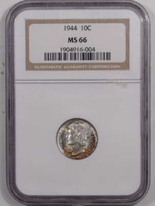 New Certified Coins 1944 MERCURY DIME – NGC MS-66 PRETTY!