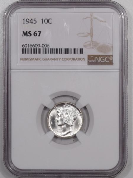 Mercury Dimes 1945 MERCURY DIME – NGC MS-67