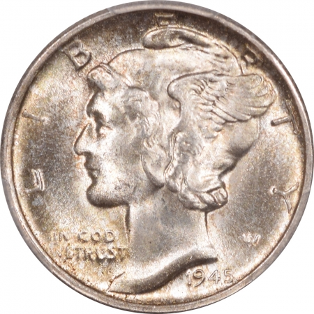 New Certified Coins 1945-S MERCURY DIME – MICRO S PCGS MS-65