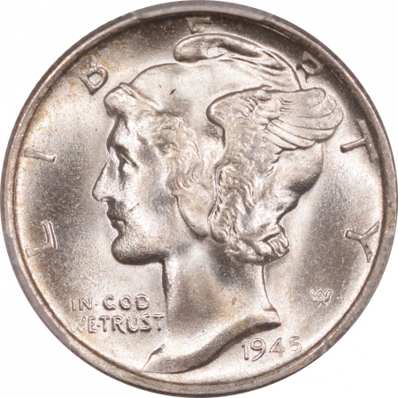 New Certified Coins 1945-S MERCURY DIME – MICRO S PCGS MS-66