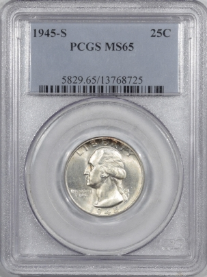 New Certified Coins 1945-S WASHINGTON QUARTER – PCGS MS-65
