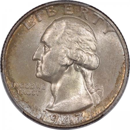 New Certified Coins 1947 WASHINGTON QUARTER – PCGS MS-66 PREMIUM QUALITY! COLOR!