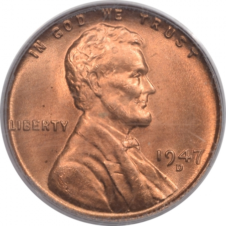 New Certified Coins 1947-D LINCOLN CENT – PCGS MS-66 RD