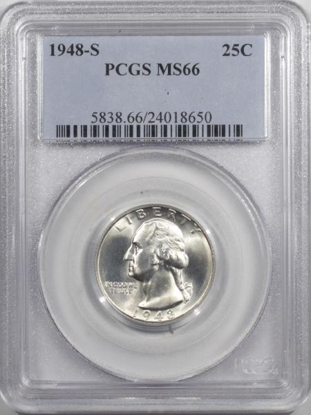 New Certified Coins 1948-S WASHINGTON QUARTER – PCGS MS-66