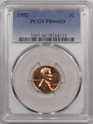 Lincoln Cents (Wheat) 1952 PROOF LINCOLN CENT – PCGS PR-66 RD