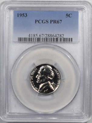 Jefferson Nickels 1953 PROOF JEFFERSON NICKEL – PCGS PR-67
