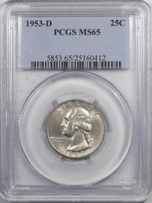 New Certified Coins 1953-D WASHINGTON QUARTER – PCGS MS-65