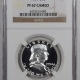New Certified Coins 1954 PROOF FRANKLIN HALF DOLLAR – NGC PF-65 PRETTY!