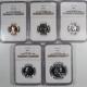 U.S. Proof Sets 1955 5 PIECE PROOF SET, MATCHED NGC PR-67, ALL COINS ARE LUSTROUS & UNTONED!