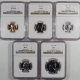 U.S. Proof Sets 1956 5 PIECE PROOF SET, MATCHED NGC PR-67, ALL COINS ARE LUSTROUS & UNTONED!