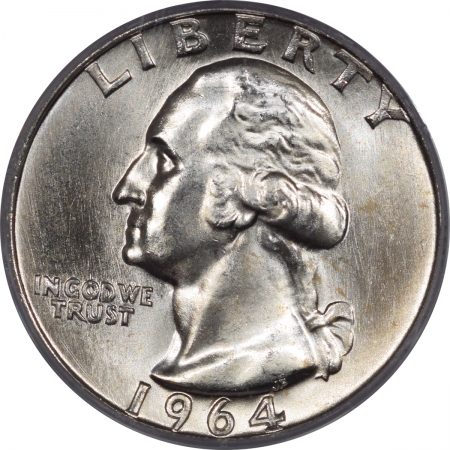 New Certified Coins 1964 WASHINGTON QUARTER – PCGS MS-66 BLAST WHITE & QUALITY PREMIUM!