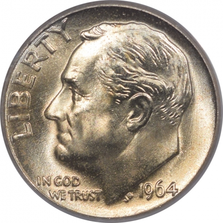 New Certified Coins 1964-D ROOSEVELT DIME PCGS MS-67, SUPERB