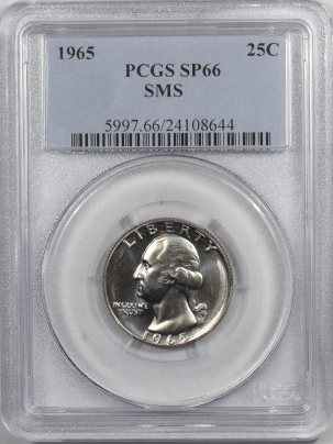 New Certified Coins 1965 PROOF WASHINGTON QUARTER – SMS – PCGS SP-66