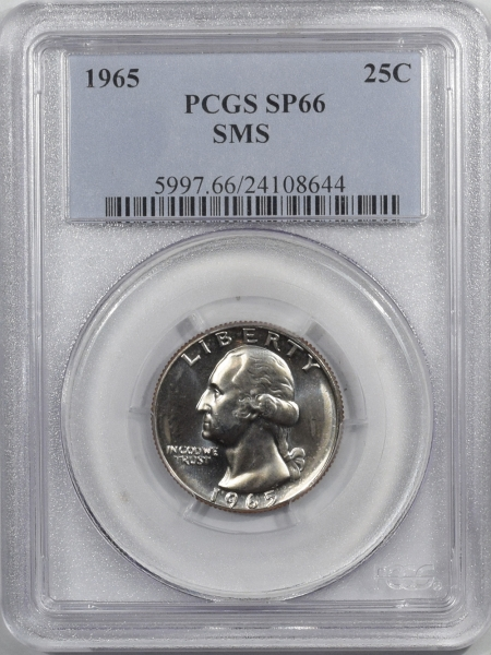 Washington Quarters 1965 PROOF WASHINGTON QUARTER – SMS – PCGS SP-66