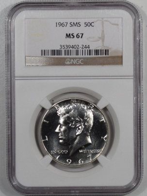 New Certified Coins 1967 KENNEDY HALF DOLLAR SMS – NGC MS-67