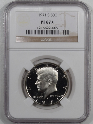 New Certified Coins 1971-S PROOF KENNEDY HALF DOLLAR – NGC PF-67 STAR