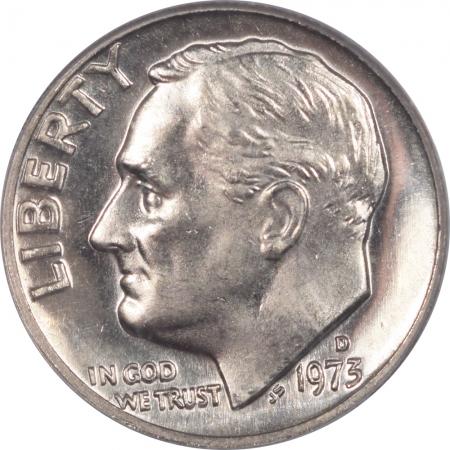 Roosevelt Dimes 1973-D ROOSEVELT DIME – PCGS MS-65 FB