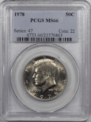 Kennedy Halves 1978 KENNEDY HALF DOLLAR – PCGS MS-66