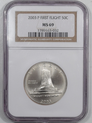 New Certified Coins 2003-P FIRST FLIGHT HALF DOLLAR NGC MS-69