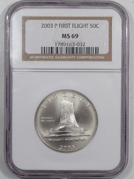 Silver 2003-P FIRST FLIGHT HALF DOLLAR NGC MS-69