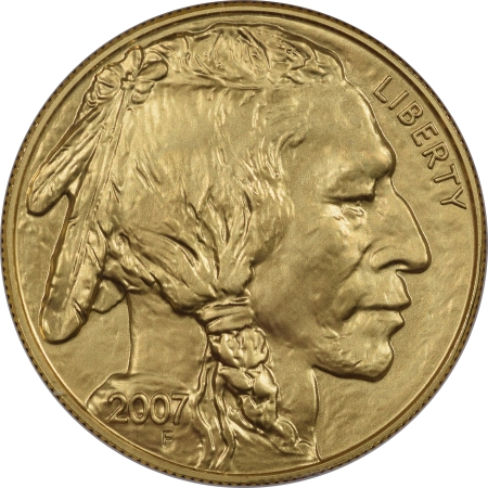 American Gold Eagles 2007 $50 GOLD AMERICAN BUFFALO .9999 NGC MS70 BLUE LABEL EARLY RELEASE