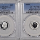 New Certified Coins 2015-P/W MARCH OF DIME SET OF 2 ROOSEVELT DIMES – PCGS PR-69/DCAM