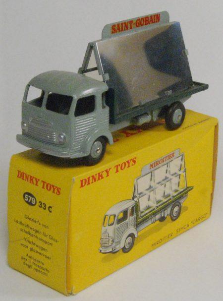 Dinky 1955 DINKY #579 (33C) GLAZIER'S VAN, GREY near-MINT W/ EXC BOX