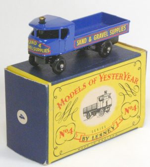 Other Collectibles 1956 MATCHBOX #Y-4 STEAM WAGON, BLACK PLASTIC WHEELS MINT W/ near-MINT BOX