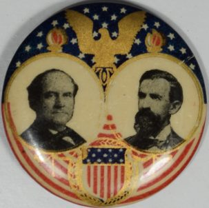 Other Collectibles 1908 1 1/4″ BRYAN-KERN JUGATE CAMPAIGN BUTTON; MULTICOLOR & SCARCE! near-MINT+