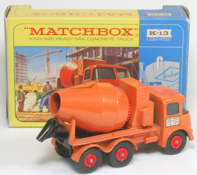 Other Collectibles 1963 MATCHBOX #K-13 ERF CONCRETE TRUCK EXC W/ VG BOX (MISSING PERSPEX)