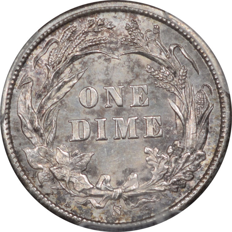 Barber Dimes 1897-S BARBER DIME PCGS MS-65, KEY DATE, TOUGH!